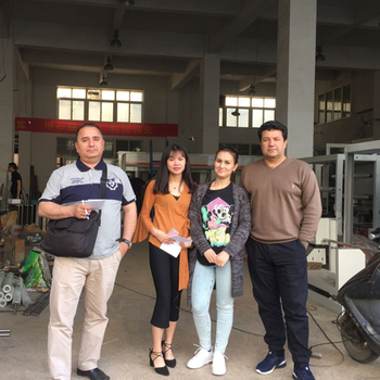 Turkmenistan customers come to set a 6 color 200m/min speed gravure printing machine