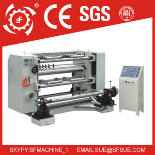 Vertical Automatic plastic film Slitting & Rewinding Machine
